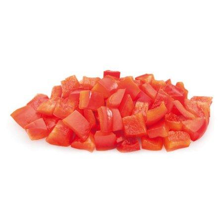 Перец  красный кубиками замороженный