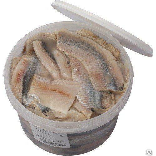 Сельдь филе слабосоленая(ведро 2,7 кг)